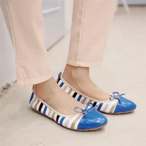 O'SHELL欧希尔新品057-1607韩版平底鞋女士豆豆鞋