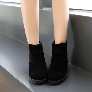 O'SHELL欧希尔新品119-6003学院磨砂绒面女士短靴