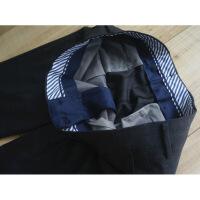 休闲西裤出口日单男士修身西裤常规款羊毛吸汗网眼可机洗EG定型长裤 深灰色