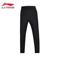 李宁运动裤男士训练系列长裤男子男装冬季平口梭织运动裤AYKM201