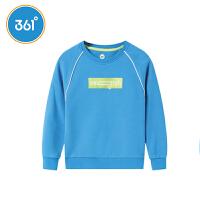 【折后叠券预估价:73】361度童装男童长袖连帽卫衣2021年春季新品中大童运动休闲上衣