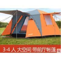 全自动户外新款帐篷2双人3-4人家庭野外露营野时尚简约加厚防雨二室一厅