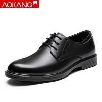 奥康男鞋男士商务正装皮鞋男英伦低帮男单鞋子
