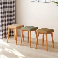 祥然 环保创意小板凳实木小椅子 沙发凳圆凳矮凳方凳