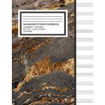 预订 Manu* Paper Notebook: Faux Gold Marble Cover, 12 Staff M