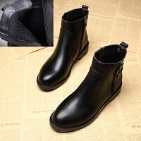 靴子女短靴2019秋冬网红马丁靴雪地41平底43大码女靴瘦瘦女鞋
