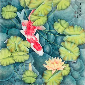 中国书画家协会常务理事 欧阳国德《连年有余》DYP120