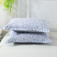 当当优品对装枕罩 纯棉200T加密斜纹枕罩48x74cm 梦忆花开