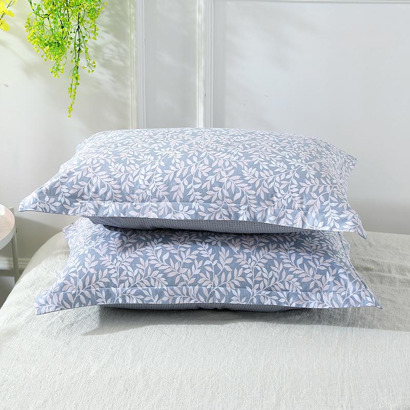 当当优品对装枕罩 纯棉200T加密斜纹枕罩48x74cm 梦忆花开当当自营