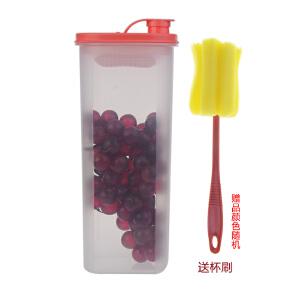 特百惠纤巧壶大容量冷水壶密封酵素桶塑料壶保鲜冷藏食物收纳盒2L