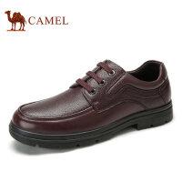 camel骆驼男鞋 秋季新品商务休闲纳帕牛皮舒适系带商务皮鞋