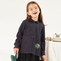 【1件3折价:119.7元】马拉丁童装女童长袖衬衫