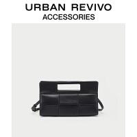 URBAN REVIVO2021春夏新品女士配件格纹手提单肩包AW20TG1N2000
