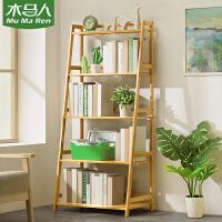 木马人简易书架落地置物小书柜子实木客厅简约儿童桌上面学生收纳