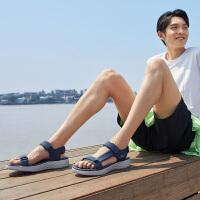 【满减商品】Skechers斯凯奇男鞋新款魔术贴凉鞋 轻质休闲沙滩鞋户外拖鞋55366