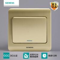 Siemens/西门子开关开关面板西门子开关插座远景系列金棕一开单控开关荧光