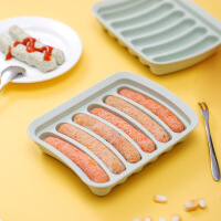 香肠模具宝宝辅食模具儿童肉肠火腿肠磨具硅胶婴儿自制可蒸火腿盒