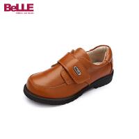 百丽童鞋儿童皮鞋2018秋季专柜同款学生鞋男返校鞋演出鞋牛皮鞋(3-13岁可选)DE0538