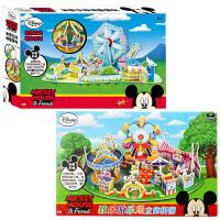 【当当自营】迪士尼拼图玩具 3D立体场景拼图二合一(米奇8片1466+米奇游乐场8片2076)