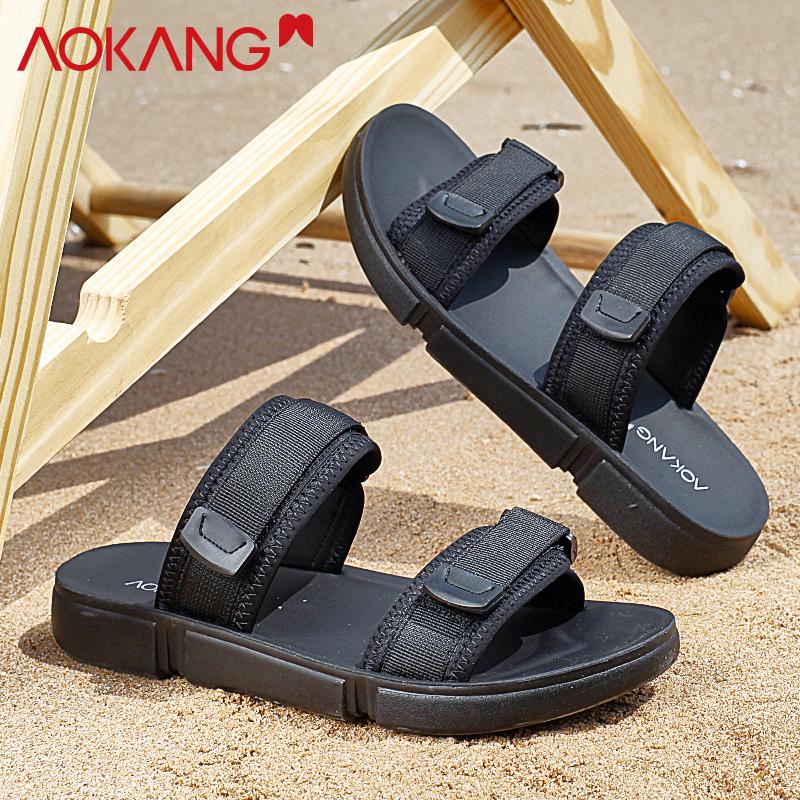 奥康凉鞋男拖鞋夏季室外沙滩凉鞋男韩版潮流个性外穿时尚凉拖