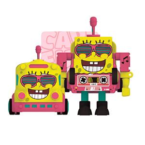 海绵宝宝合金变形玩具车模型手动机器人男孩女孩迷你小汽车玩具
