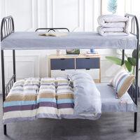 学校宿舍三件套上下铺大学生床笠被套床单床垫套装0.9m单人床被子 1.0m床 六件套:加厚棉花被(5斤)+床垫+枕芯