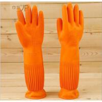 巾派 加长加厚黄金乳胶手套 防水护手家务手套 厨房洗碗清洗手套