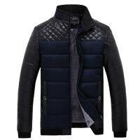 爸爸冬装中老年人男装外套加绒加厚保暖短款冬季中年男士棉衣
