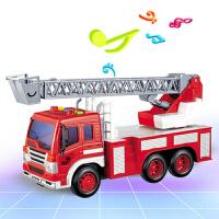 工程车电动儿童玩具车男孩汽车救援车遥控车救火云梯吊车钩车