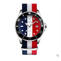 时尚沉稳男士手表防水石英表复古彩带潮流商务男表个性腕表