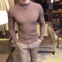 新款男士线衫英伦绅士硬汉风修身 男士针织衫毛衣青少年时尚修身百搭