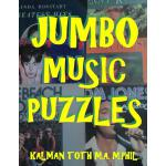 预订 Jumbo Music Puzzles: 133 Large Print Music Themed Word S