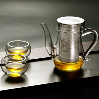 不锈钢过滤泡茶杯红茶茶器泡茶器耐热玻璃花茶壶功夫茶具