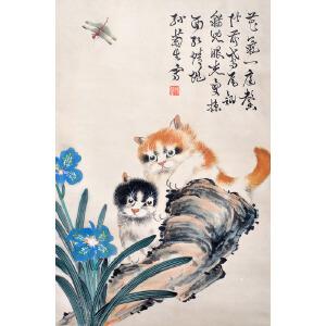 R756孙菊生《双猫图》