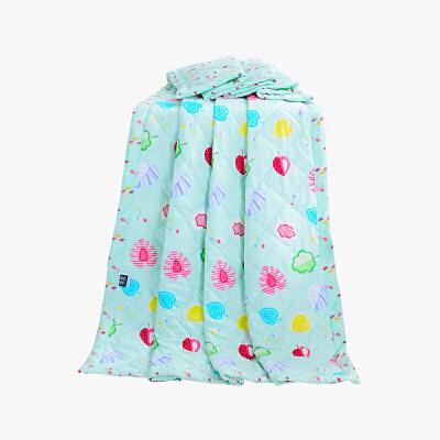 当当优品家纺 可水洗印花夏凉被 150x200双人空调被 草莓甜心绿当当自营 柔软透气 水洗机洗不变形