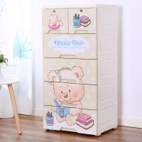 泰蜜熊加厚塑料五斗抽屉式收纳柜宝宝衣柜婴儿童整理箱玩具多层储物柜子收纳柜