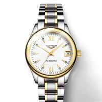 女表夜光镶钻复古经典手表女精钢带腕表全自动机械表
