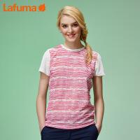 法国LAFUMA乐飞叶女士夏季户外弹力快干透气圆领短袖T恤LFTS7B333