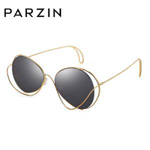 帕森太阳镜新品女士时尚个性金属大框镂空炫彩膜潮墨镜驾驶镜9786