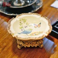 墨菲 �e韵流萤 欧美复古烟灰缸创意个性时尚彩绘客厅办公室装饰摆件