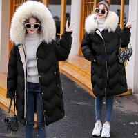 冬季孕后期加厚棉袄韩版宽松棉衣孕妇冬装中长款连帽外套