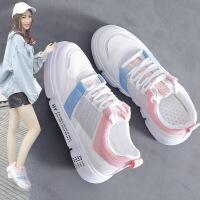 小白鞋 女士厚底春秋季新款个性平底韩版时尚韩版女式滑板鞋透气白色休闲鞋子学生运动鞋