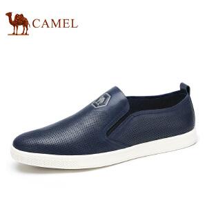 camel骆驼男鞋 时尚休闲 春季新款 日常休闲透气套脚男士皮鞋