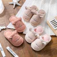 儿童棉拖鞋秋冬男童女童棉拖亲子家居室内中童冬季小孩毛毛拖鞋