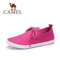 Camel骆驼女鞋 纯色简约磨砂休闲舒适圆头女单鞋 A63003617