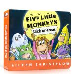 【顺丰速运】英文原版绘本 Five Little Monkeys Trick-or-Treat五只小猴子 不给糖就捣蛋