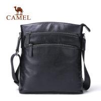 Camel骆驼男包新款商务休闲单肩包男版竖款男士斜挎包背包男
