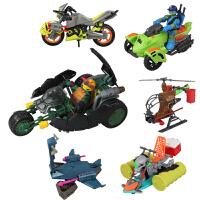 AULDEY 奥迪双钻 忍者神龟正品手办 高级载具系列 动漫周边儿童玩具