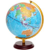 地球仪 志诚 带led灯发光 32cm政区教学地球仪 木制底座 双芯LED灯 铝合金架