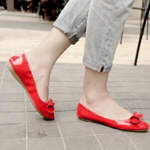 O'SHELL欧希尔新品057-1523韩版平底鞋女士豆豆鞋